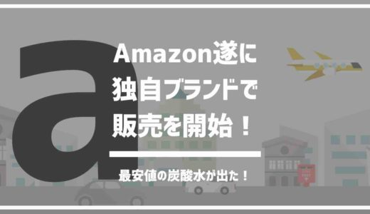 Amazon独自ブランドが強い、安い、新しい。Amazon最安値の強炭酸水も登場。