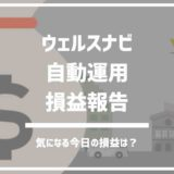 ウェルスナビ自動運用損益報告【2018年11月4週】